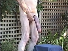 A big dildo for a tight old man&#039;s ass