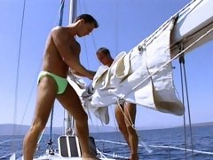 Muscle guys fuck on yacht before shooting their loads all over each other