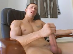 Chris Stokes strokes his big manly shaft
